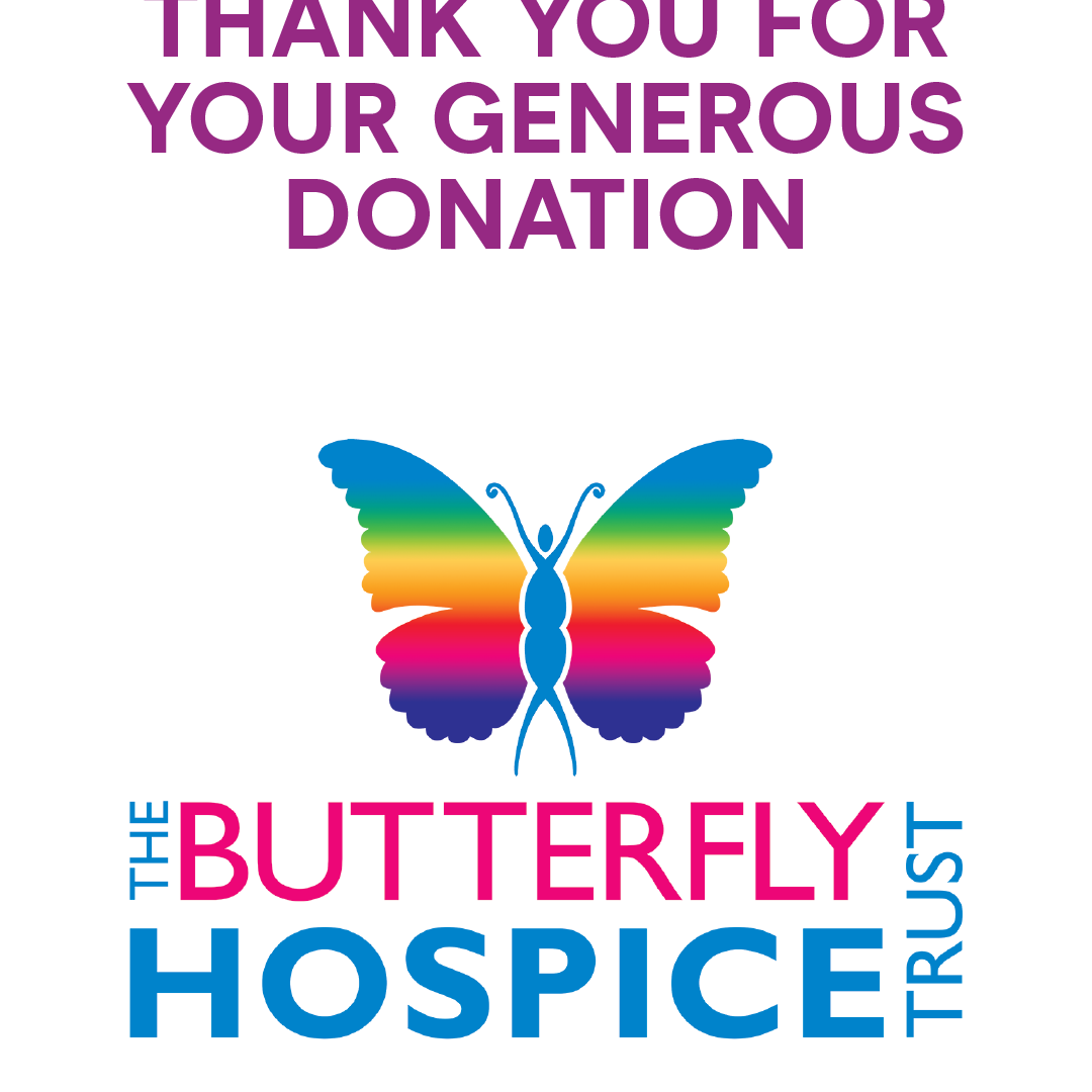 Butterfly Hospice Marathon in a Month logo