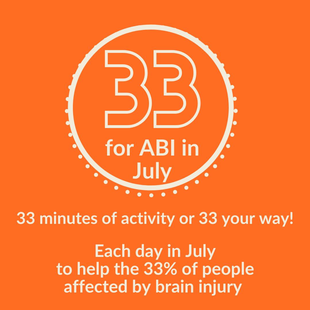 33 For ABI in July logo